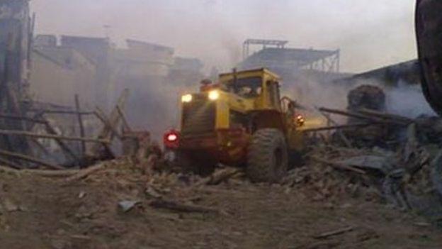 تخریب حسینیه دراویش در بروجرد