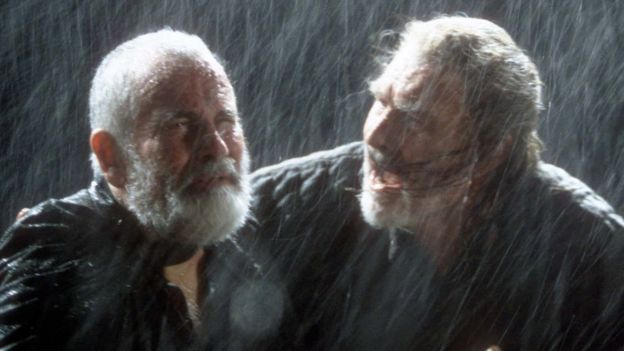 Sir Ian Holm with Michael Bryant in King Lear