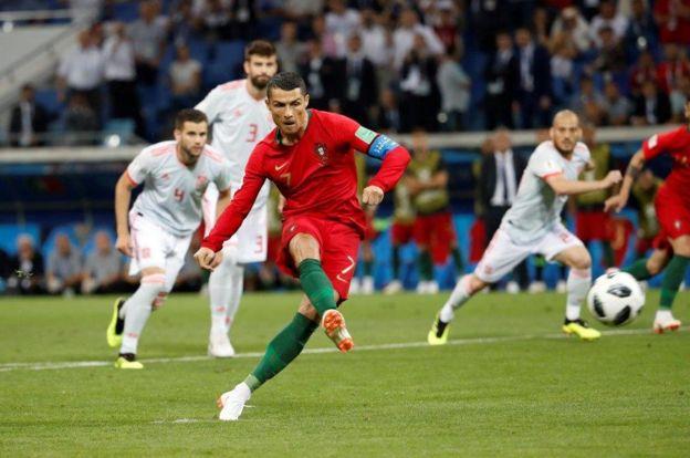 La definición perfecta de Cristiano Ronaldo para batir a David de Gea.