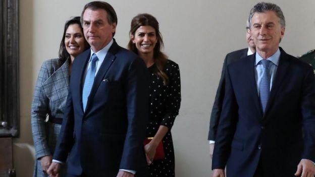 Jair Bolsonaro e Macri em junho de 2019