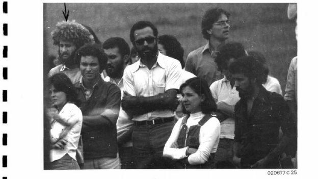 Foto de estudantes da UnB em arquivo da ditadura