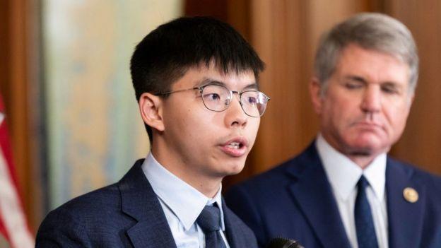 Nhà hoạt động dân chủ Joshua Wong của Hong Kong phát biểu tại Washington ngày 18/9/2019