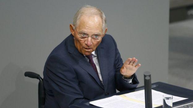 Finance Minister Wolfgang Schaeuble, 19 Aug