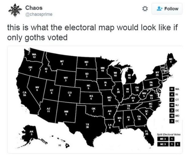 What If Only Goats Voted In The US Election BBC News - Simpons us map vs real voters map