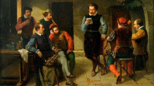 Dans le Taverne by Adolf Rene Lefevre