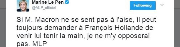 Marine Le Pen tweet