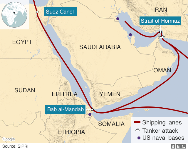 US to enlist military allies in Gulf and Yemen waters - BBC News