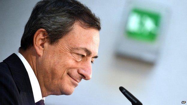 The president of the European Central Bank (ECB), Mario Draghi, s