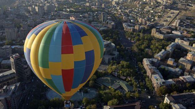 View over Armenia