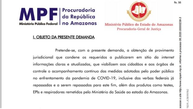Documento do MPF-AM