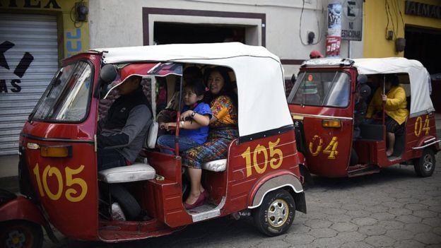 Mototaxis en Chichicastenango