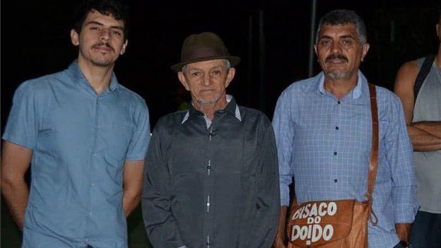 Jefferson Sousa, Leonardo Bastião e Bernardo Ferreira posam pra foto