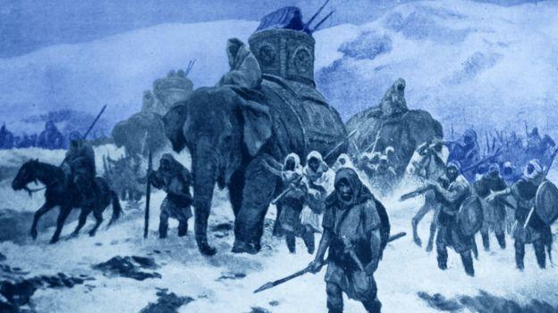 Hannibal orduları Alp Dağları'nda