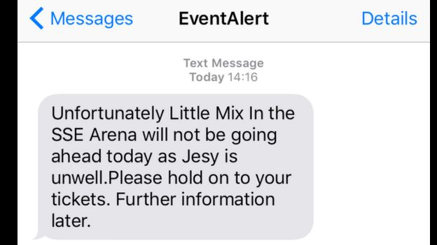 Little Mix: Last minute cancellation of Belfast gigs - BBC News