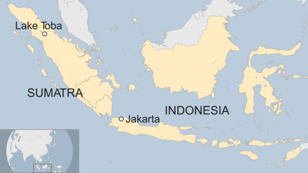 Indonesia ferry disaster lake toba captain detained bbc news map of lake toba gumiabroncs Images