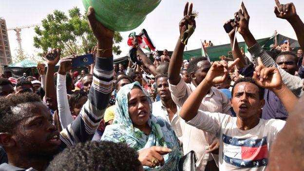 Waandamanaji mjini Khartoum