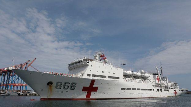 El Daishan Dao ha visitado unos 40 países en sus giras de asistencia humanitaria.