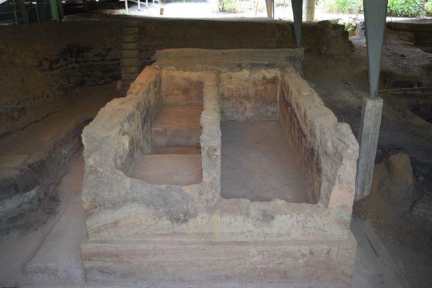 Estructura encontrada en Joya de Cerén.