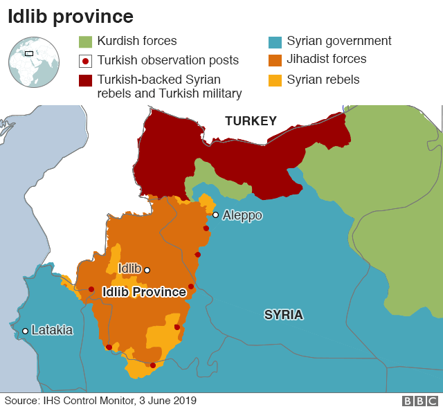 Syria war: Why does the battle for Idlib matter? - BBC News on map of middle east russia, map of north korea and russia, map of sweden and russia, map of ussr and russia, map of north america and russia, map of europe and russia, map of european countries and russia, map of egypt and russia, map of russia 2015, map of the usa and russia, map of georgia and russia, map asia and russia, map of great britain and russia, map of vietnam and russia, map of macedonia and russia, map of armenia and russia, map of china and russia, map of serbia and russia, map of ships in syria, political map of russia,