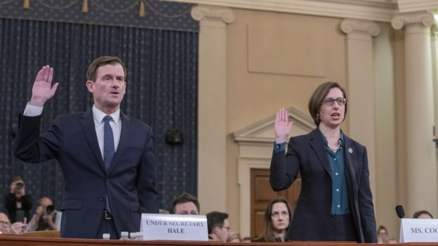 David Hale and Laura Cooper during their hearing, 20 November