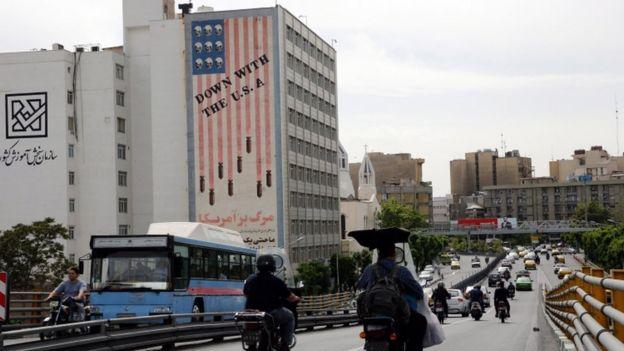 Tehranda ABŞ-a qarşı şüarlar