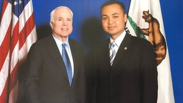 Tyler Diep and John McCain