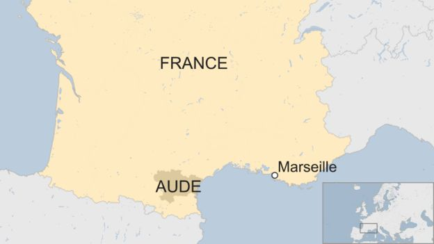 Map Of France Showing Marseille.France Weather Red Alert As Flash Floods Kill 10 In South West