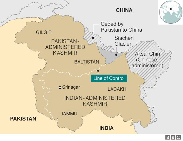 Map Of India And Pakistan Border.Viewpoint India And Pakistan Up The Ante On Disputed Border Bbc News