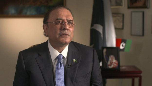 Asif Zardari interviewed by the BBC
