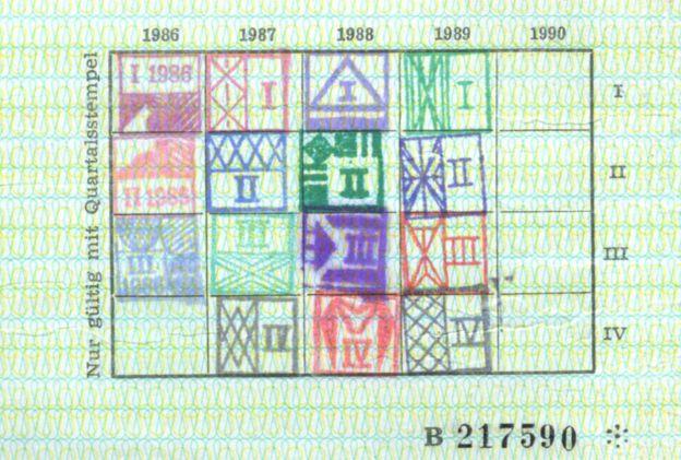 Stamps on Putin's Stasi ID