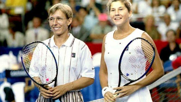 Martina Navratilova y Mnica Seles
