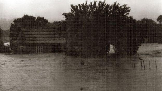 Рівень води під час повені 1969 року
