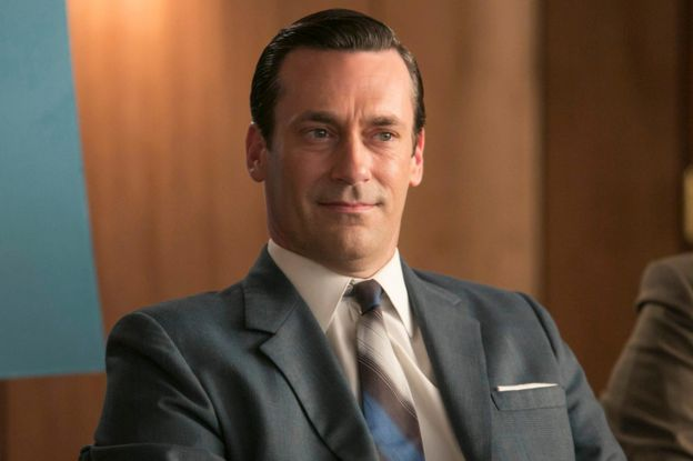 Actor Jon Hamm playing Don Draper in Mad Men