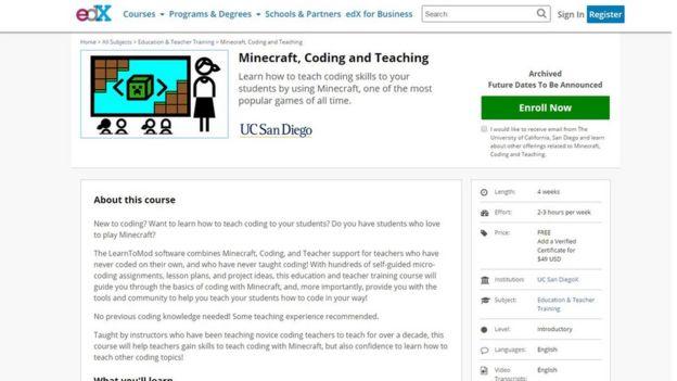 Página web del curso en edX