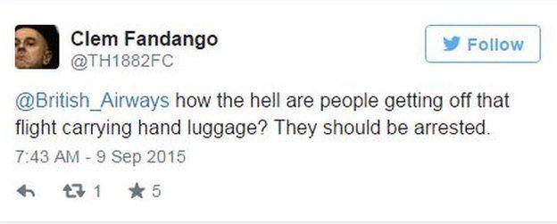 Tweet by Clem Fandago