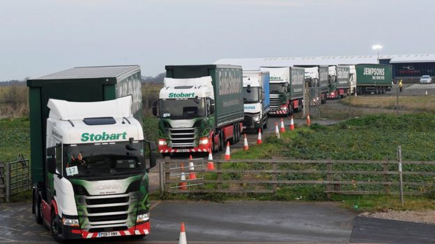 bc4336cd43 Brexit  Operation Brock lorry park A256 trial  too little too late ...