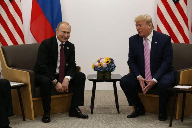 الرئيس الأمريكي دونالد ترامب يلتقي الرئيس الروسي فلاديمير بوتين على هامش قمة العشرين