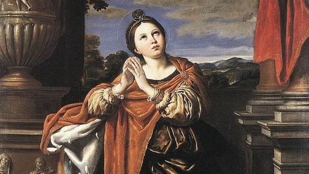 Santa Agnes, por Domenichino