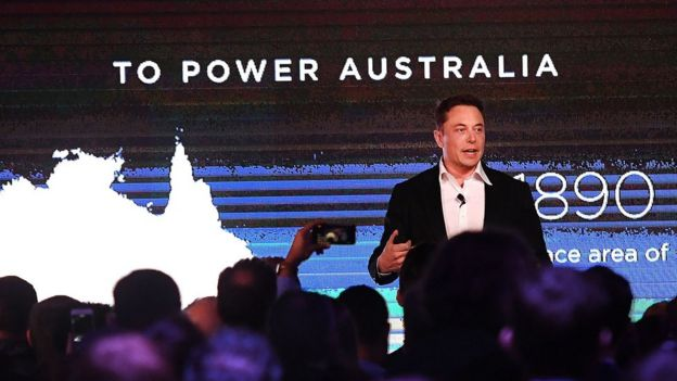 Tesla mega-battery in Australia activated - BBC News