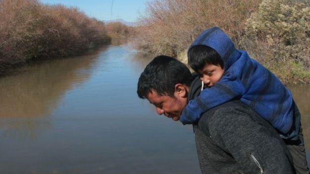 عائلة مهاجرة