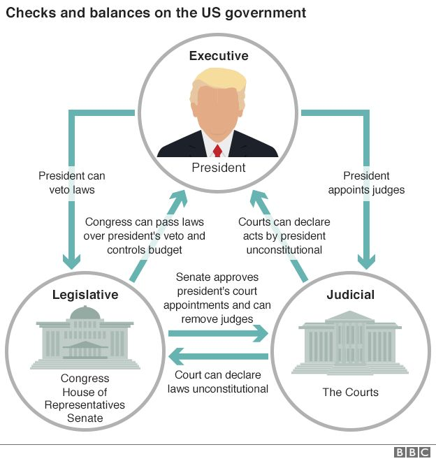 taking on trump is the us facing a constitutional crisis bbc news rh bbc com venn diagram of checks and balances diagram of checks and balances of government