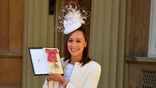 Jessica Ennis-Hill was made a Dame at the ceremony