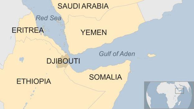 Peta lokasi Djibouti