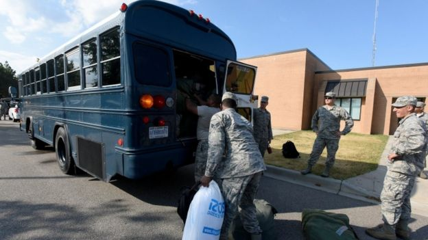 South Carolina airmen are deployed for the expected rescue efforts