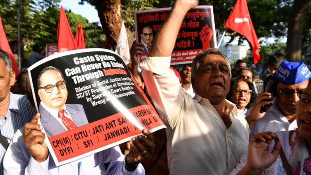 Dalit protest in Mumbai in 2018