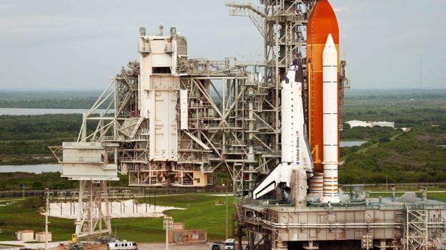 Plataforma de lanzamiento del transbordador Atlantis.
