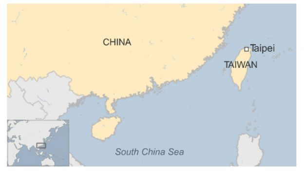China fines retailer muji for listing taiwan as a country bbc news map of taiwan gumiabroncs Images