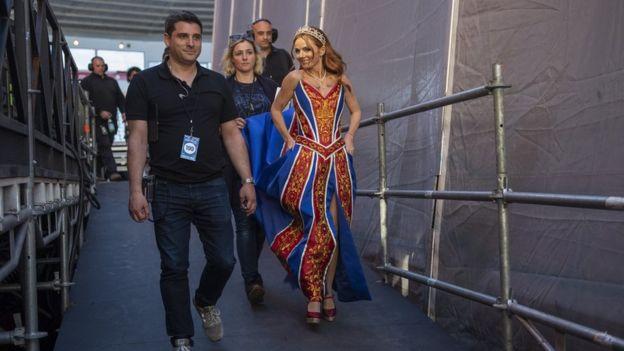Geri Horner at the Spice Girls show