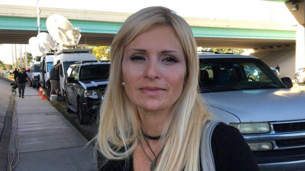 Orapma Moreno, madre de Andrea, sobreviviente del tiroteo en la escuela de Florida. (Foto Lioman Lima)