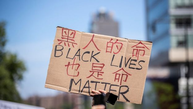 Chinese have shown solidarity with the Black Lives Matter movement